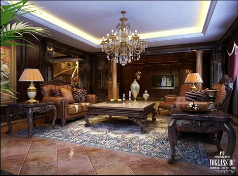 上海尚层装饰-经典欧式风格别墅效果图