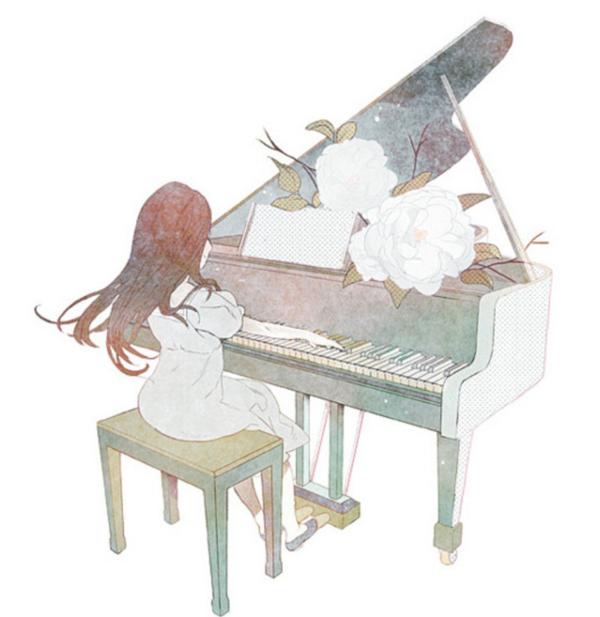 钢琴海报素材图儿童